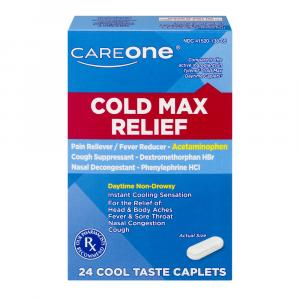 CareOne Cold Max Relief Cool Taste Caplets