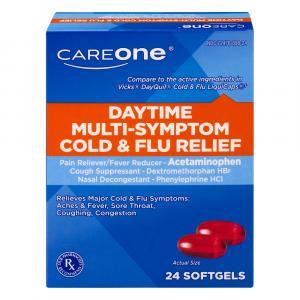 CareOne Daytime Cold & Flu Softgels