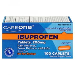 CareOne Ibuprofen Caplets 200 mg