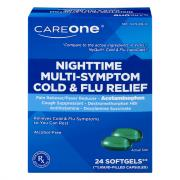 CareOne Nighttime Cold & Flu Softgels