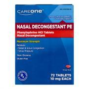 CareOne PE Non-Drowsy Nasal Decongestant