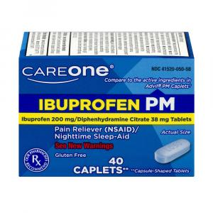 CareOne Ibuprofen Caplets PM 200mg