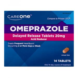 CareOne Omeprazole Delayed Release Tablets 20 mg