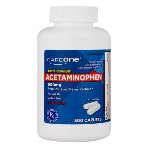 CareOne Acetaminophen 500 mg Caplets