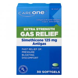 CareOne Extra Strength Gas Relief 125mg Softgels
