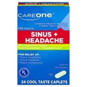 CareOne Sinus Headache Caplets