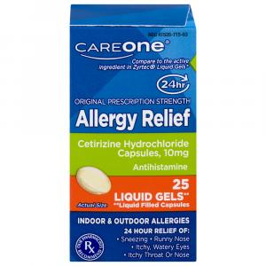 CareOne Allergy Relief Cetirizine 10 mg Softgels