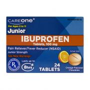 CareOne Ibuprofen Jr Orange Chewable Tablets