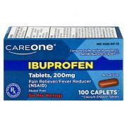 CareOne Ibuprofen Caplets 200mg