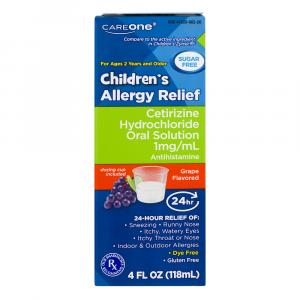 Careone Sugar Free Children's Allergy Syrup