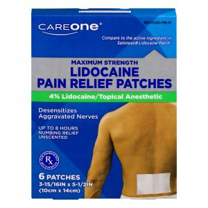 CareOne Lidocaine Pain Relief Patches
