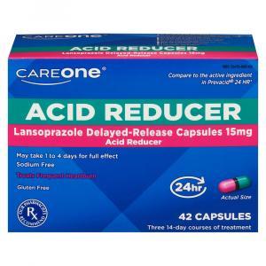 CareOne Acid Reducer Lansprazole Delayed-Release Capsules