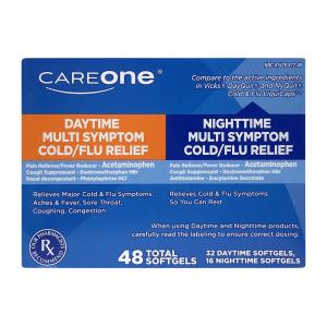 CareOne Daytime and Nighttime Cold and Flu Softgels