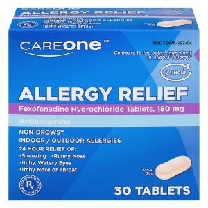 CareOne Aller-Ease Fexofenadine Tablets 180mg