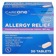 CareOne Aller-Ease Fexofenadine Tablets 180mg