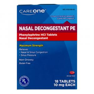 CareOne Nasal Decongestant PE Tablets