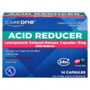 CareOne Acid Reducer Lansoprazole Delayed-Release 15 mg