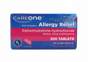 CareOne Allergy Relief Tablets Diphenhydramine Hydrochloride