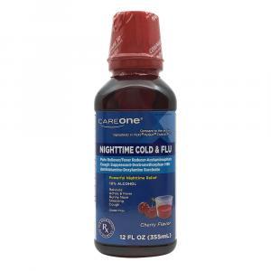 CareOne Nighttime Cold & Flu Cherry Flavor