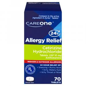 Careone Allergy Relief Cetirizine 10 Mg Tablets