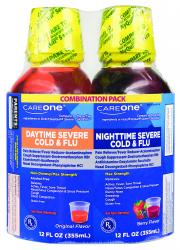 CareOne Daytime Nighttime Severe Cold & Flu