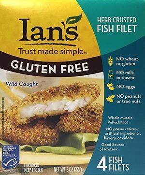 Ian's Gluten Free Herb Crusted Fish Filet