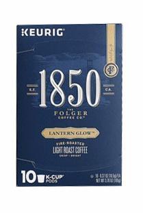 Folgers 1850 Lantern Glow Light Roast Coffee K-Cups