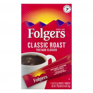 Folgers Classic Roast Instant Coffee Single Serve Packets