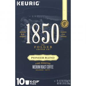 Folger 1850 Pioneer Blend K-Cup Pods Medium Roast Coffee