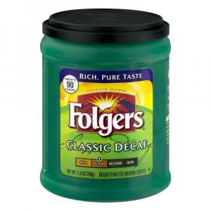 Folgers Decaffeinated Ground Coffee