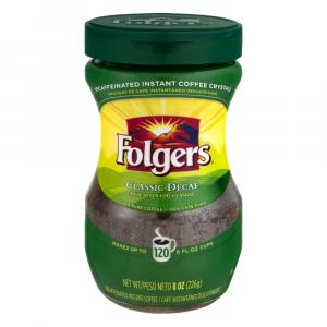 Folgers Instant Decaffeinated Crystals