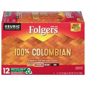 Folgers Lively Colombian Coffee K-cups
