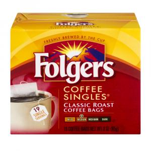 Folgers Regular Coffee Singles