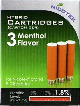 Nicotek Menthol 1.8% Refill Cartiridge