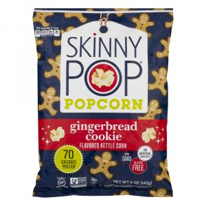 Skinny Pop Popcorn Gingerbread Cookie Flavored Kettle Corn