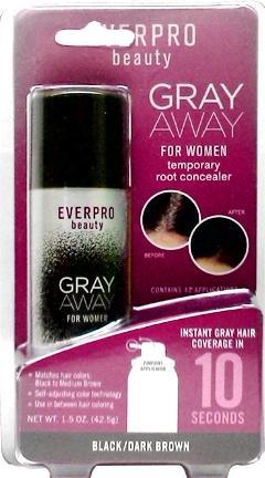 Everpro Beauty Gray Away For Women Black/dark Brown