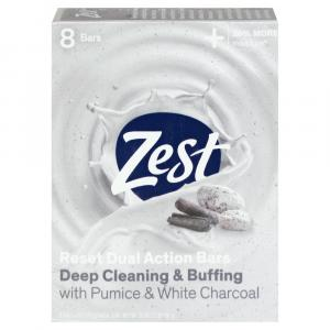 Zest Pumice & White Charcoal Deep Cleaning & Buffing Bars