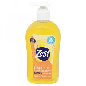 Zest Lemon Peel Antibacterial Liquid Hand Soap