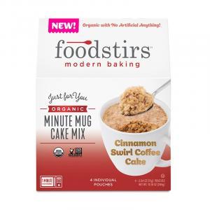 Foodstirs Organic Minute Mug Cake Cinnamon Swirl Mix
