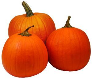 Orange Painted Pumpkins