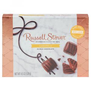 Russell Stover Caramels in Milk Chocolate