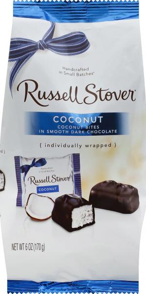 Russell Stover Dark Chocolate Coconut Mini Gusset Bag