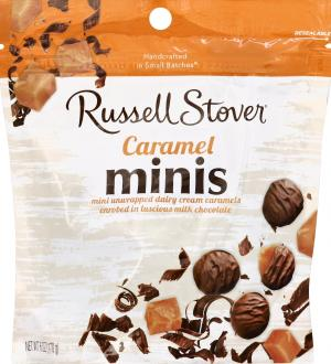 Russell Stover Dairy Cream Caramel Minis Pouch