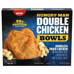 Hungry-Man Double Chicken Bowls Boneless Fried Chicken