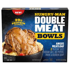 Hungry-Man Double Meat Bowls Angus Meatloaf