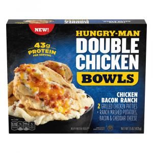 Hungry-Man Double Chicken Bowls Chicken Bacon Ranch