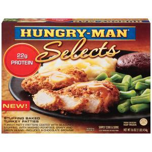 Hungry-man Selects Stuffing Baked Turkey Patties