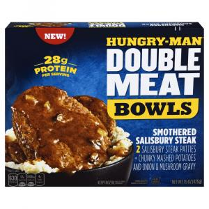 Hungry-Man Double Meat Bowls Smothered Salisbury Steak