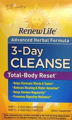 RenewLife Advanced Herbal Three Day Cleanse