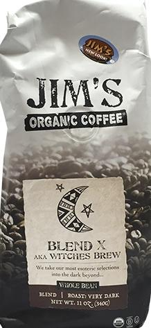 Jim's Organic Witches Brew Whole Bean Coffee